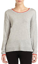 Joie Anela Contrast Detail Knit Sweater