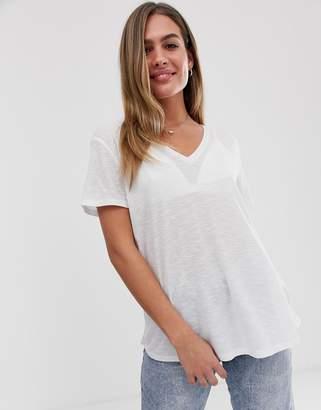 Asos Design DESIGN t-shirt in longline slubby rib in white