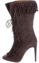 Aquazzura Carly Fringe-Accented Boots