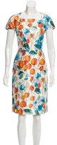 Dolce & Gabbana Watercolor Floral Sheath Dress