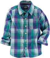Osh Kosh Oshkosh Bgosh Long-Sleeve Plaid Button-Front Shirt - Baby Boys 3m-24m