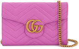 Gucci Marmont Chevron Chain wallet bag - women - Leather/metal - One Size