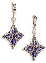 Ivy Diamond & Iolite Drop Earrings