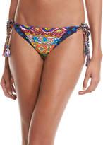 Nanette Lepore Carnaval Triangle Tie Swim Top