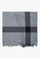 Rag and Bone RAG & BONE Charcoal grey cashmere blend Banderole scarf