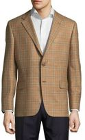 Hickey Freeman Milburn Plaid Long-Sleeve Jacket