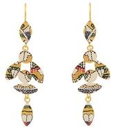 Isabel Marant Marley enamel bird drop earrings