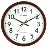 Geneva 14-Inch Electric Quartz Wall Clock