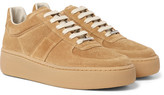 Maison Margiela Exaggerated-sole Suede Sneakers - Tan