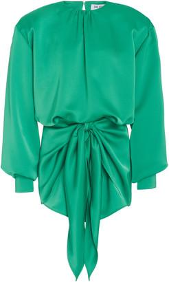 ATTICO Draped Crepe De Chine Mini Dress