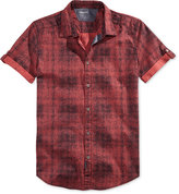 Calvin Klein Jeans Men's Digital Tartan-Print Shirt
