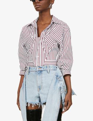 Alexander Wang Bustier striped cotton shirt