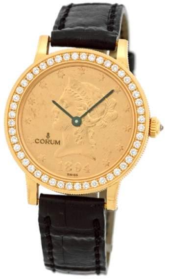 Corum 1894 Ten Dollar U.S. Coin 18K Yellow Gold Diamond Dress Unisex Watch