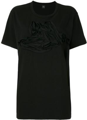 Y's short sleeved applique T-shirt
