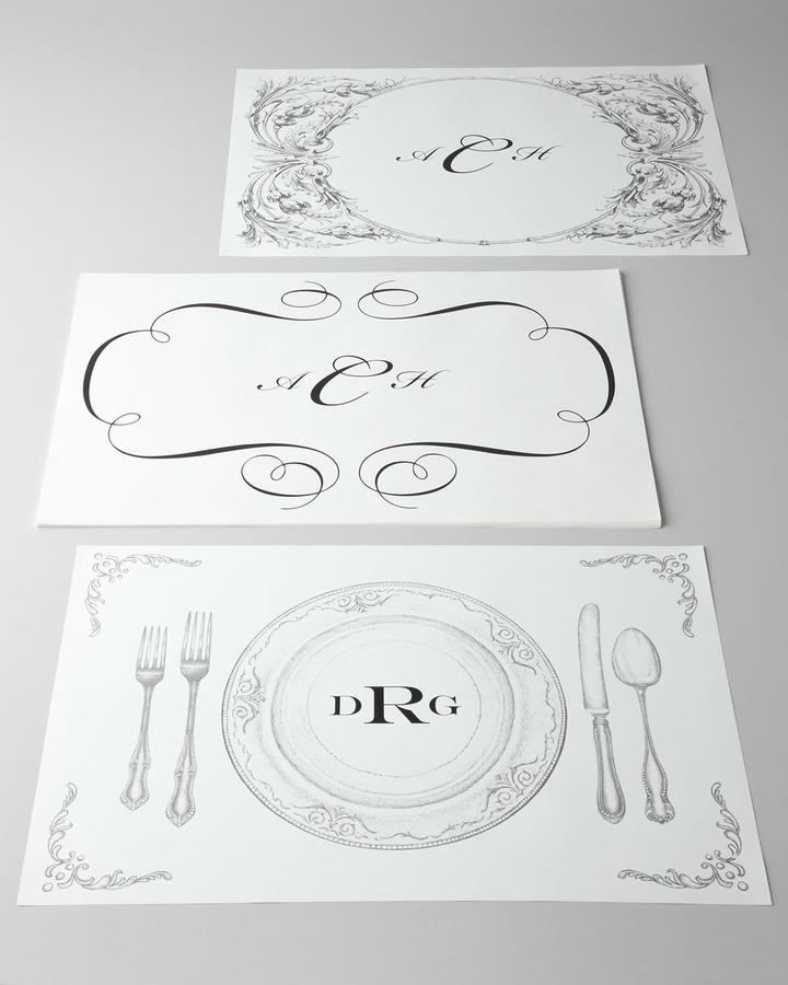 Horchow Paper Table Linens