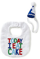 Mud Pie Today I Eat Cake Bib & Hat Set