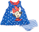 Children's Apparel Network Blue Seashell Minnie Mouse Tunic & Diaper Cover - Infant