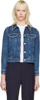 Miu Miu Blue Embellished Denim Jacket