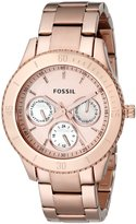 Fossil Women's ES2859 Stainless Steel Analog Dial Watch Rose