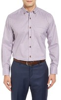 David Donahue Men's Regular Fit Check Sport Shirt