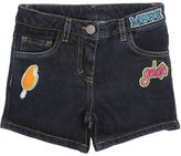 An Italian Theory Patches Stretch Cotton Denim Shorts