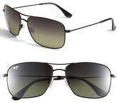 Maui Jim Women's 'Wiki Wiki - Polarizedplus2' Aviator 59Mm Sunglasses - Gloss Black