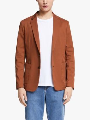 John Lewis & Partners Kin Italian Ottoman Tailored Blazer, Brick
