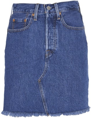 Levi's Levis Frayed Short Skirt