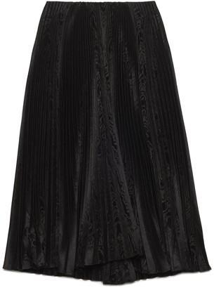 Balenciaga Pleated Jacquard Midi Skirt
