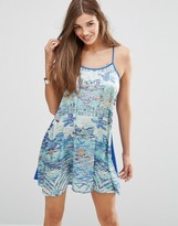 Lavand Abstract Cami Dress
