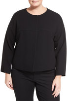 Lafayette 148 New York Wool Topper Jacket, Black, Plus Size