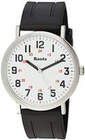 Roots 'Core' Quartz Stainless Steel and Rubber Casual Watch, Color:Black (Model: 1R-LF130WH1B)
