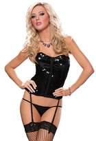 Seven Til Midnight Black Sequin Bustier Women's Costume