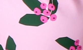 TINY TRIBE Berry Tropicana Two-Piece Rashguard Swimsuit