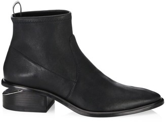 Alexander Wang Kori Rhodium & Stretch-Leather Sock Boots