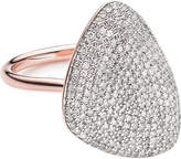 Monica Vinader Nura Teardrop 18ct rose-gold vermeil and diamond ring