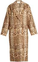 ADAM by Adam Lippes Leopard-print wool cocoon coat