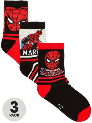 Spiderman Boys 3 Pack Socks - Multi