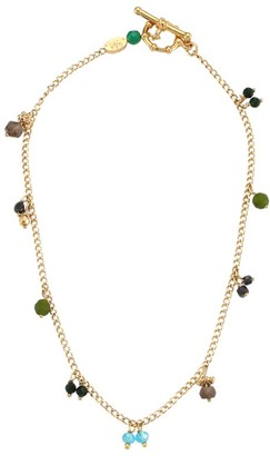 Gas Bijoux 24K Goldplated & Glass Bead Anklet