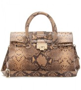 ROSALIE SNAKE-PRINT LEATHER TOTE