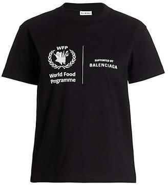 Balenciaga Fitted World Food Programme T-Shirt