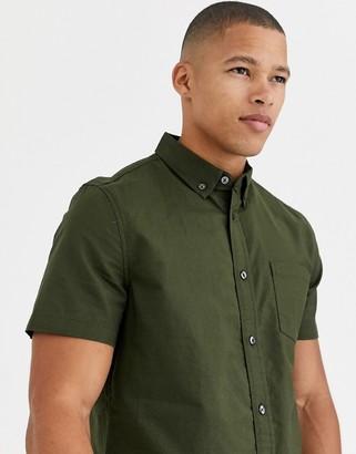 Burton Menswear oxford shirt in khaki-Green