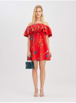 Oscar de la Renta Botanical Garden Ruffle Dress