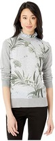 Ted Baker Emally Frill Neck Mockable Jumper (Grey) Women's Clothing