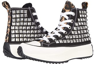 Steve Madden Shaft High-Top Sneaker (Black/Stud) Women's Shoes