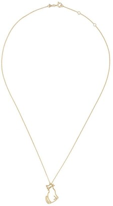 ALIITA 9kt Yellow Gold Cat Pendant Necklace