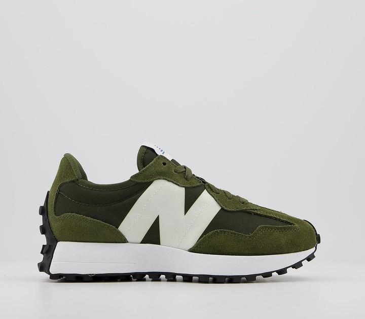 New Balance 327 Trainers Oak Leaf Green White