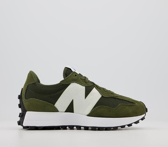 New Balance 327 Trainers Oak Leaf Green White