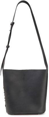 DKNY Logo-appliqued Leather Bucket Bag