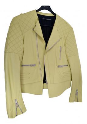 Balenciaga Yellow Leather Leather jackets